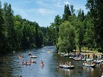 Kayaking the River Sazava