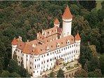 Konopiste Castle is 15 minutes away