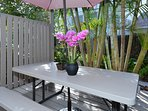 beautiful patio for enjoying your meal together