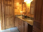 Master Bath with granite counters and full tub
