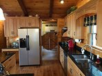 Kitchen leading to laundry/mud room