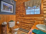 The cabin includes 2 full bathrooms.