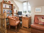 Study area with a wealth of books
