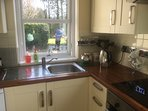 Kitchen with great views over fields