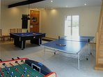 Games Room showing doors out to the pool terrace