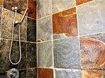 Large slate shower
