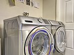 Clothes will stay fresh and clean with the use of these in-unit laundry machines.