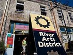 The River Arts District in A'ville, where new & established artists produce and display their work.