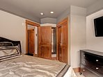 Master Bedroom - King-sized bed.