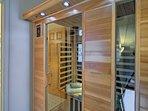 Take advantage of the home's private sauna.