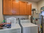 Wash your ski gear in the in-unit laundry machines.
