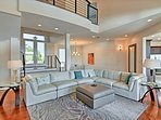 The elegant interior includes 5 bedrooms, 5 baths and great views throughout!