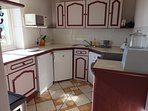 Separate, well-equipped kitchen