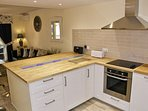 Large spacious open plan kitchen.