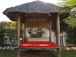 Thatched Gazebo for shaded relaxation