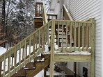 Your stairway to heaven! 2 sitting decks.