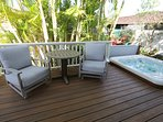 Enjoy your morning coffee and breakfast on the deck