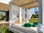 Beautiful comfortable Balinese bed those sunny summer Ibiza days