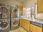 Everyone in your crew can pack light as you'll have access to this laundry room.