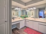 A double vanity makes it easy to get ready each day!