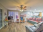 This beautiful home offers 2 bedrooms, 2 bathrooms, and sleeping for 7.