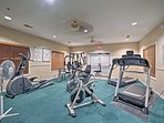 Begin your days with a quick workout in the fitness center!