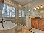 Primp and pamper in this spa-like en-suite bathroom!