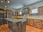 The chef in your group will fall in love with this fully equipped kitchen.