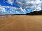 Spectacular image of Benllech blue flag beach towards Red Wharf Bay