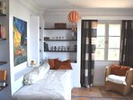 Bedroom 5, Jules Verne,  single bed (Box spring) wall integrated silent aircon.