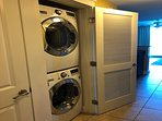 New Full size front load LG washer/dryer set in the unit.