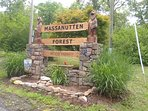 Entrance to Massanutten Forest at Cardinal Drive