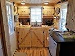 Well equipped kitchen with cutlery,silverware Keurig crock pot,fridge kettle,tea,coffee,toaster