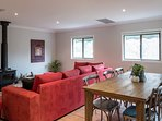 Hermitage Hideaway Cottage Pokolbin Hunter Valley- Relax in the large living space.