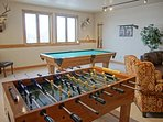Full size pool table & foos ball table