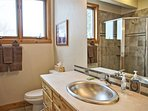 Beautiful details throughout, like this sink in the en suite of bedroom 3