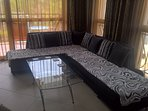 corner sofa settee used as is for 2 single beds