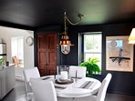 Beautiful dining room at Sea Change Cottage