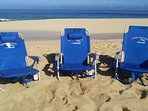 Three Quality Beach chairs provided for your personal use!