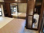 Master bedroom with washer/drier