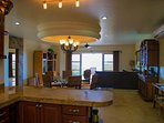 Spacious dining and entertaining area.
