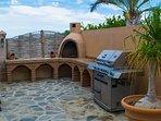 Terrace area grill or breakfast dining