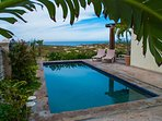 Beach side Patio, Unobstructed ocean views and pool deck.