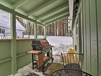 Fire up the grill for an al fresco BBQ on the covered porch!