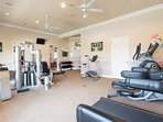 Gym in the clubhouse. Free to use for all guests