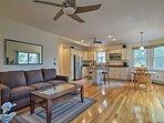 Enjoy hardwood flooring, tall ceilings, and plenty of space.