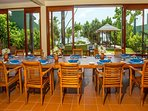 inside dining seats 16 to 20 we can arrange your meals near the pool, beach and sea