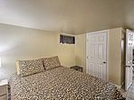Sleep soundly on the queen bed in the master bedroom.