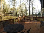 Enjoy a view of Greers Ferry Lake from our spacious deck with dining seating for 6.