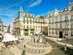 Chiado Square, Metro station Baixa/Chiado and Tram 28, less than 5 min. walk